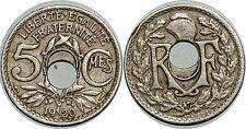 5 CENTIMES LINDAUER 1920  FAUTEE TROU DECENTRE
