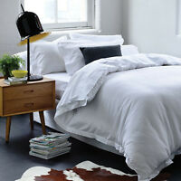 Gainsborough Harper White 100% Cotton Waffle Doona|Quilt Cover Set in All Sizes