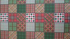 10 X A4 Hojas Navidad Patchwork Estampado cartulina libre 1st Class Post
