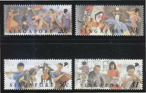 SINGAPORE 1994 FESTIVAL OF ARTS COMP. SET OF 4 STAMPS SC#687-690 IN MINT MNH