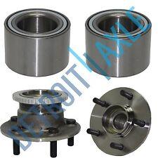 4 pc Set - 2 Rear Wheel Hub and Bearing Assembly w/ ABS + 2 Front Press Bearing