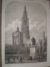 The place Verte Antwerp from Samuel Read 1868 old print ref W1 Belgium