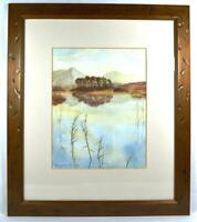 Original Irish Art Watercolour Lough Painting Signed