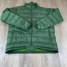 Patagonia Men's Nano Puff Jacket Green Puffer Full Zip Sz Large Goose Down