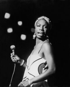 Jazz Singer NINA SIMONE Glossy 8x10 Photo Blues Print Soul Poster Folk Songs