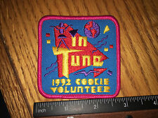 Girl Scout Cookie Volunteer Patch 1992 In Tune - New - Qty 1