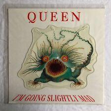 QUEEN -I'm Going Slightly Mad- UK Shaped Picture Disc in Printed PVC Sleeve