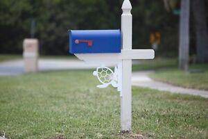 Mailbox post decor decorative bracket kit starboard turtle & colorcore