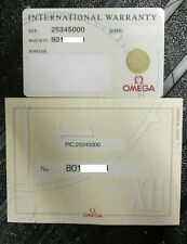 OMEGA Seamaster GMT 50 Years Chronometer Watch ref 25345000 Warranty Card & COSC