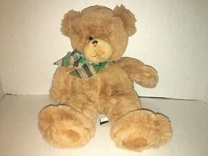 First & Main Teddy Bear Dean #1796  with Striped Bow Plush Stuffed Animal Soft