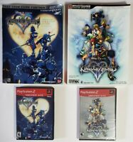 Disney Kingdom Hearts Bundle with 1&2 (2 is New/Sealed) and Strategy Guides.