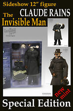"SIDESHOW UNIVERSAL MONSTERS 12"" CLAUDE RAINS INVISIBLE MAN SPECIAL EDITION MIB!"