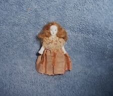 "~Antique German Bisque Dollhouse Doll House~2""~Doll for Small Girl Doll~Dressed"