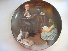 "BRADFORD EXCHANGE NORMAN ROCKWELL THE STORYTELLER KNOWLES PLATE, 8 1/2"" DIAMETER"
