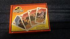 Vintage 1992 JURASSIC PARK Dinosaur Escape Card Game by Parker Brothers Complete