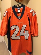 AUTHENTIC ON FIELD CHAMP BAILEY DENVER BRONCOS JERSEY SIZE 54 NFL FOOTBALL #24