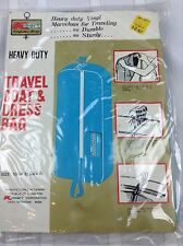 VTG NOS New K Mart Vinyl arment Bag Travel Dress Coat Blue MCM TV Movie Prop