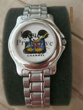 NIB MICKEY MOUSE Disney Channel Stainless Steel Men's Watch NEW IN BOX