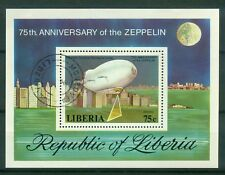 Liberia Block 89A , o , Motiv Zeppelin
