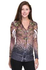 AMAZING FLORAL SUBLIMATION PRINT BUTTON DOWN LONG CARDIGAN TOP SIZE 1X