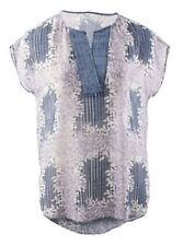 CAbi Printed Stitch Placket Blouse ~ Size Medium ~ Style # 278 ~ NWT $79 Retail