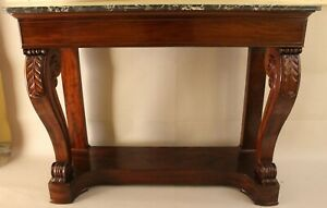 Console table early 19th century ''Aux volutes''-Restauration period (1815-1830)