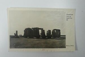 STONEHENGE from The South East A2 Wiltshire Stones Old Real Photo Postcard A032