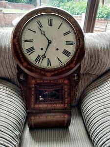Antique American Drop Dial Wall Clock
