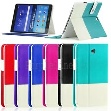 "Leather Case Auto Smart Cover for Samsung Galaxy Tab S2 / A / 4 / 3 8.0"" 9.0"""