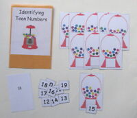 Teacher Made Math Center Learning Resource Game Teen Numbers Identifying Sums