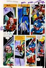 1981 Colan Captain America Annual 5 Marvel Comics color guide art page 23:1980's