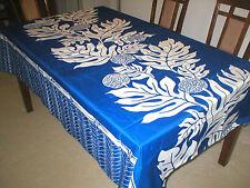 Breadfruit Hawaiian Quilt Print Water Resist Hawaii Tablecloth 60x108 BLUE