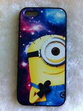 Despicable Me Minion in Galaxy Printed Case for iPhone 5/5s PC & TPU iPhone 5s