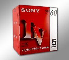 5 SONY Mini DV Camcorder Video Cassette Tape 90min new sony DVM60R3