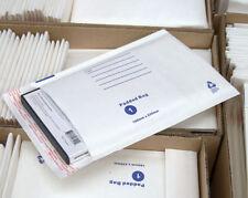 50 #01 Bubble Envelope 160x230mm White Padded Bag - SIZE 01 White Kraft Mailer