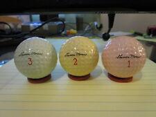 3 RARE MINT Vintage Sharon Moran Lincoln Mercury Signature Golf Balls c1960's