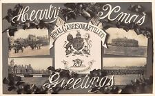 Hearty Xmas Greetings, Royal Garrison Artillery,  Real Photo - Portsmouth Area