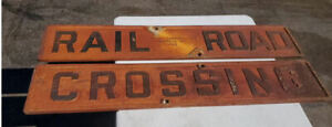 Vintage Cast Iron Double Sided Railroad Crossbuck Sign Transport Co Kentucky