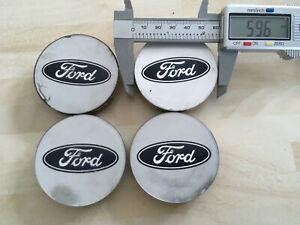 Set of 4  Ford 60mm wheel  centre caps  H95SX1137BA  # JL261