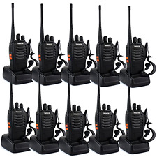 New Two-Way Radio Long Range UHF 400-470MHz Signal Frequency Single Band,10 Pack
