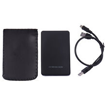 "External 2.5"" HDD Enclosure USB SATA Hard Drive Black Caddy Case for Laptop PC"