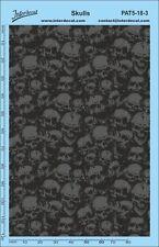 StickerBomb Skull cráneo patrón 1/18 1/12 1/8 decal naßschiebebild pat05-18-3
