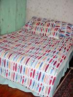 Tommy Hilfiger 5 Pc Twin Set Surfboards-Comforter-Pillow Case-Sham-Sheet-Pillow
