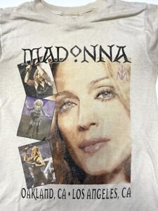 VTG 2001 Madonna Drowned World Tour T Shirt Oakland LA Rap Tee Style Adult Small