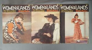 3x Vintage Women of All Lands Magazines (1939) - Rosita Forbes