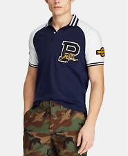 Polo Ralph Lauren Men's Contrast Logo Patch P Wing Tiger Varsity Yale Mesh Shirt