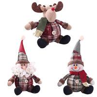CW_ Christmas Doll Santa Claus Snowman Reindeer Xmas Tree Hanging Ornament Decor