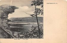 D9/ Portsmouth Ohio Postcard c1910 Raven Rock Geology Lookout Indian River 2