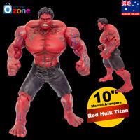 "10"" Marvel Avengers Red Hulk Titan Super Hero Incredible Action Figure Toy"