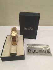 Bulova Men's Vintage Gold Tone Quarts Watch NWT New Battery